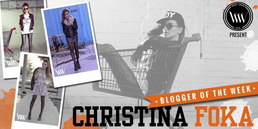 BLOGGER OF THE WEEK - Christina Foka